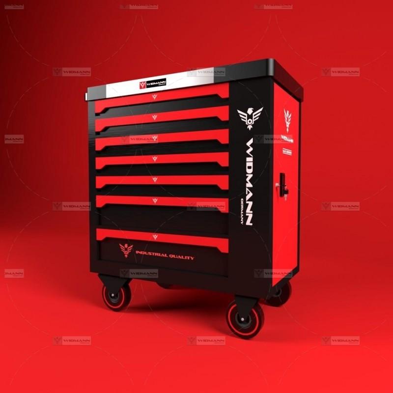 Carro De Herramientas Profesional Edición Red De Acero Inoxidable Con 7 Cajones Con Puerta Lateral